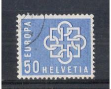 1959 - LOTTO/SVI631U - SVIZZERA - 50c. EUROPA - USATO