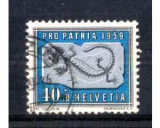 1959 - LOTTO/SVI626U - SVIZZERA - 40+10c. PRO PATRIA - USATO