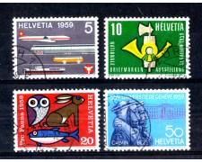 1959 - LOTTO/SVI624U - SVIZZERA - PROPAGANDA 4v. - USATI