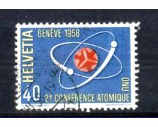 1958 - LOTTO/SVI611U - SVIZZERA - 40c. CONFERENZA ATOMICA - USATO