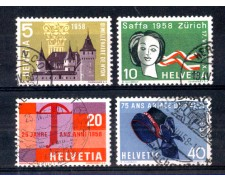 1958 - LOTTO/SVI605CPU - SVIZZERA - PROPAGANDA 4v. - USATI