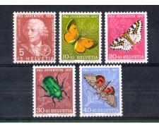 1957 - LOTTO/SVI601CPN - SVIZZERA - PRO JUVENTUTE 5v. - NUOVI