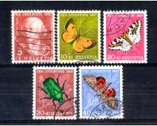 1957 - LOTTO/SVI601CPU - SVIZZERA - PRO JUVENTUTE 5v. - USATI