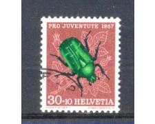 1957 - LOTTO/SVI600U - SVIZZERA - 30+10c. PRO JUVENTUTE - USATO