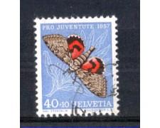 1957 - LOTTO/SVI601U - SVIZZERA - 40+10c. PRO JUVENTUTE - USATO