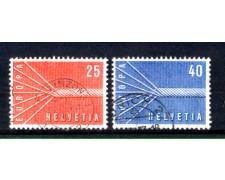 1957 - LOTTO/SVI596CPU - SVIZZERA - EUROPA 2v. - USATI