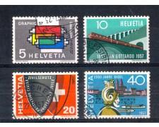 1957 - LOTTO/SVI589CPU - SVIZZERA - PROPAGANDA  4v. - USATI