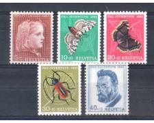 1953 - LOTTO/SVI543CPN - SVIZZERA - PRO JUVENTUTE 5v. - NUOVI