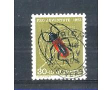 1953 - LOTTO/SVI542U - SVIZZERA - 30+10c. PRO JUVENTUTE - USATO