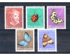 1952 - LOTTO/SVI530CPN - SVIZZERA - PRO JUVENTUTE 5v. - NUOVI