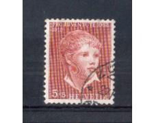 1952 - LOTTO/SVI526U - SVIZZERA -  5+5c. PRO JUVENTUTE  - USATO
