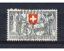 1952 - LOTTO/SVI521U - SVIZZERA - 5+5c. PRO PATRIA - USATO