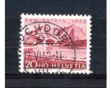 1952 - LOTTO/SVI523U - SVIZZERA - 20+10c. PRO PATRIA - USATO