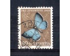 1952 - LOTTO/SVI529U - SVIZZERA - 30+10c. PRO JUVENTUTE - USATO