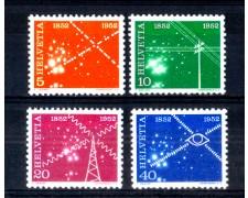 1952 - LOTTO/SVI520CPN - SVIZZERA - CENTENARIO TELECOMUNICAZIONI 4v. - NUOVI