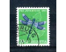 1951 - LOTTO/SVI513U - SVIZZERA - 10+10c. PRO JUVENTUTE - USATO