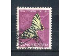 1951 - LOTTO/SVI514U - SVIZZERA - 20+10c. PRO JUVENTUTE - USATO