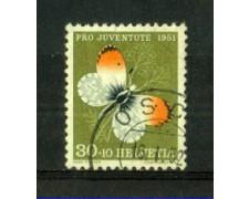 1951 - LOTTO/SVI515U - SVIZZERA - 30+10c. PRO JUVENTUTE - USATO