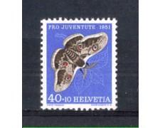 1951 - LOTTO/SVI516N - SVIZZERA - 40+10c. PRO JUVENTUTE - NUOVO