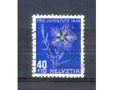 1949 - LOTTO/SVI496U - SVIZZERA - 40+10c. PRO JUVENTUTE - USATO