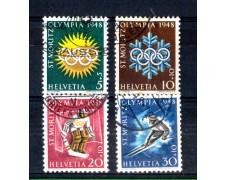 1948 - LOTTO/SVI452CPU - SVIZZERA - OILIMPIADI DI ST. MORITZ 4v. - USATI