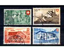 1946 - LOTTO/SVI431CPU - SVIZZERA - PRO PATRIA 4v. - USATI