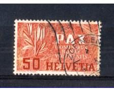1945 - LOTTO/SVI410U - SVIZZERA - 50 cent. PAX - USATO