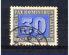 1945 - LOTTO/SVI408U - SVIZZERA - 30c. PAX - USATO