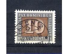 1945 - LOTTO/SVI406U - SVIZZERA - 10c. PAX - USATO