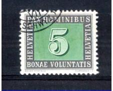 1945 - LOTTO/SVI405U - SVIZZERA - 5c. PAX - USATO