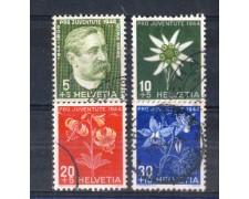 1944 - LOTTO/SVI402CPU - SVIZZERA - PRO JUVENTUTE 4v. - USATI