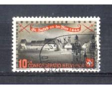 1944 - LOTTO/SVI396U - SVIZZERA - 10+10c. PRO PATRIA - USATO