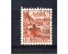 1943 - LOTTO/SVI387U - SVIZZERA - 10c. CASTELLO DI CHILLON - USATO