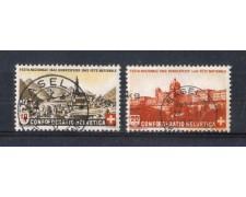 1943 - LOTTO/SVI386CPU - SVIZZERA - PRO PATRIA 2v. - USATI