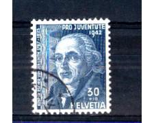 1942 - LOTTO/SVI383U - SVIZZERA - 30+10c. PRO JUVENTUTE  - USATO