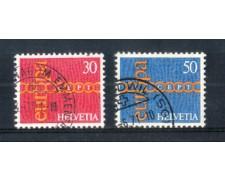 1971 - LOTTO/SVI883CPU - SVIZZERA - EUROPA 2v. - USATI