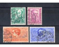 1937 - LOTTO/SVI306CPU - SVIZZERA - PRO JUVENTUTE 4v . - USATI