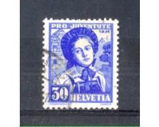 1936 - LOTTO/SVI301U - SVIZZERA - 30+10c. PRO JUVENTUTE - USATO