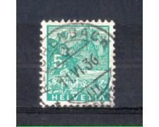 1934 - LOTTO/SVI272U - SVIZZERA - 5c.  VEDUTE - USATO
