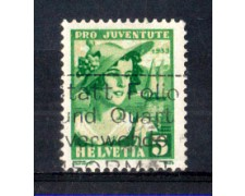 1933 - LOTTO/SVI267U - SVIZZERA - 5+5c. PRO JUVENTUTE - USATO