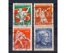 1932 - LOTTO/SVI266CPU - SVIZZERA - PRO JUVENTUTE  - USATI