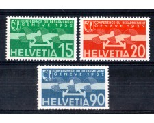 1932 - LOTTO/SVIA18CPL - SVIZZERA - POSTA AEREA 3v. - LING.