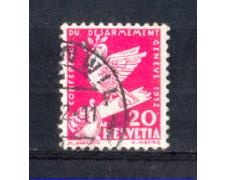 1932 - LOTTO/SVI256U - SVIZZERA - 20c. CONFERENZA DISARMO - USATO