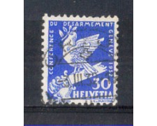 1932 - LOTTO/SVI257U - SVIZZERA - 30c. CONFERENZA DISARMO - USATO