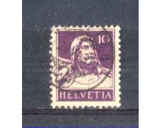 1930 - LOTTO/SVI243U - SVIZZERA - 10c. VIOLETTO SCURO - USATO