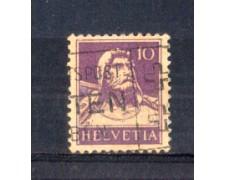 1930 - LOTTO/SVI243AU - SVIZZERA - 10c. VIOLETTO CARTA GOFFRATA - USATO