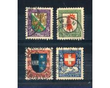 1926 - LOTTO/SVI225CPU - SVIZZERA - PRO JUVENTUTE 4v. - USATI