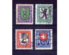 1925 - LOTTO/SVI221CPU - SVIZZERA - PRO JUVENTUTE 4v. - USATI