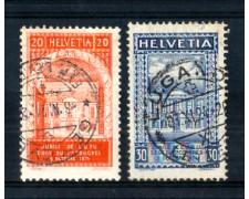 1924 - LOTTO/SVI213CPU - SVIZZERA - CINQUANTENARIO U.P.U. 2v. - USATI