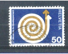 1971 - LOTTO/SVI876U - SVIZZERA - 50c. AIUTI AL TERZO MONDO - USATO